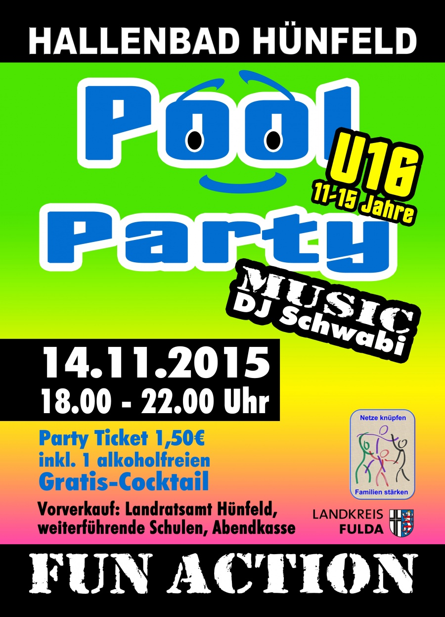535-Plakat Pool Party Kreisseiten