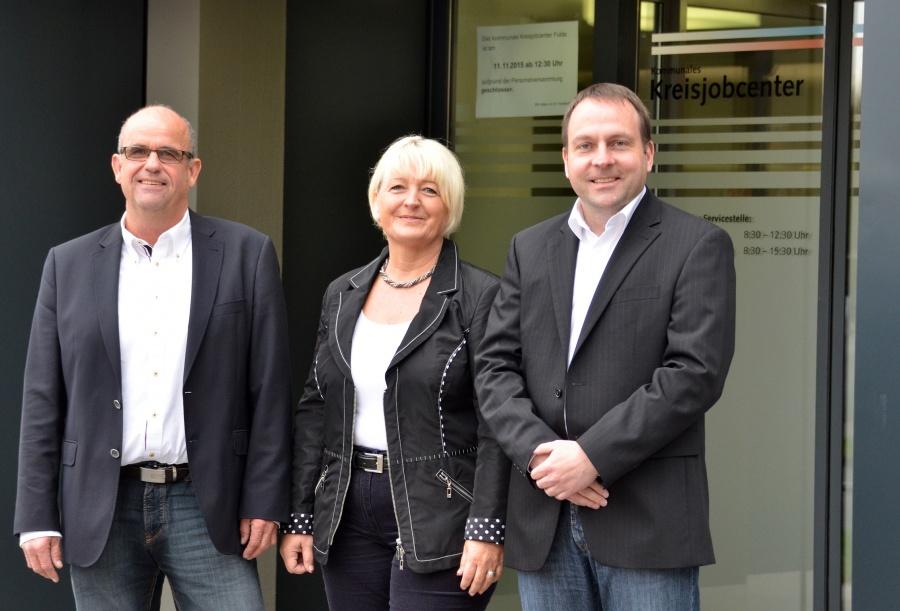 Von links: Harald Hahner, Ute Böhm und Michael Lingner kümmern sich um die Begleitung von Langzeitarbeitslosen und die Beratung von Betrieben.