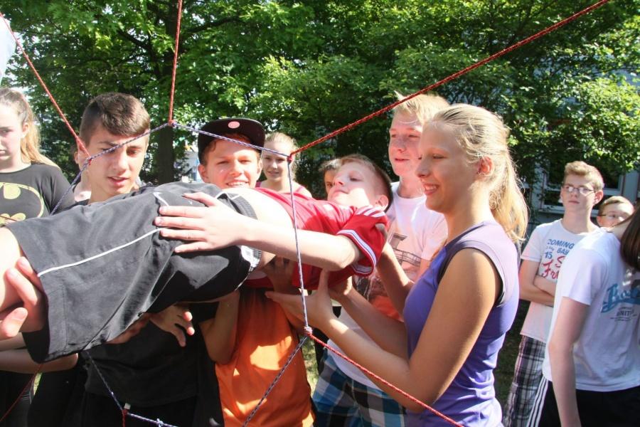 Der SportsFinderDay sorgte bei den Schülerinnen und Schülern in Fulda für Begeisterung