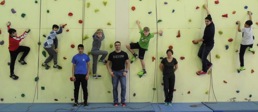 Gruppenbild Klettern