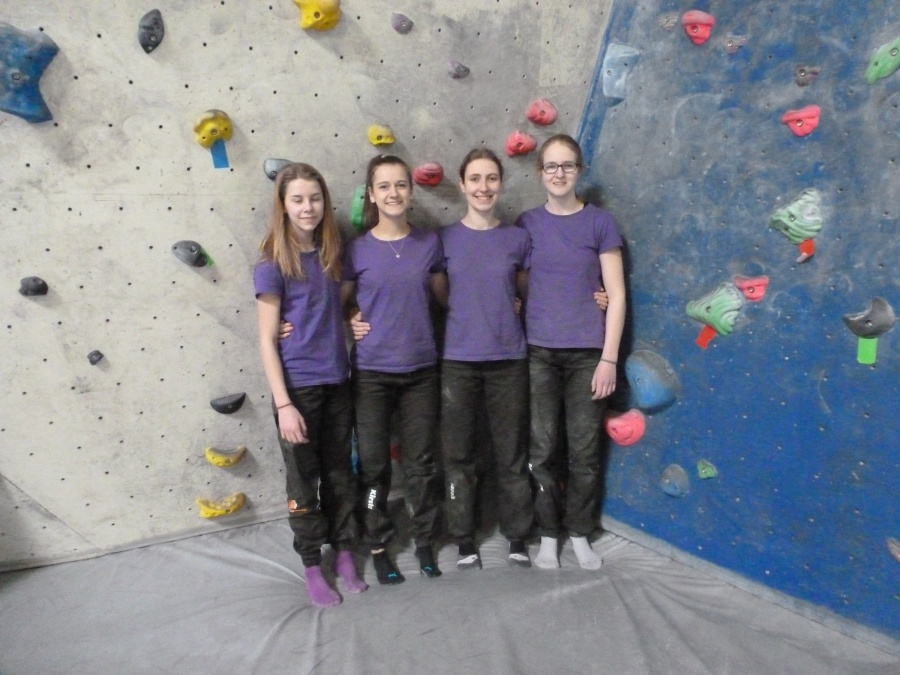 DAV_Boulderwettkämpfe Damen_März 1
