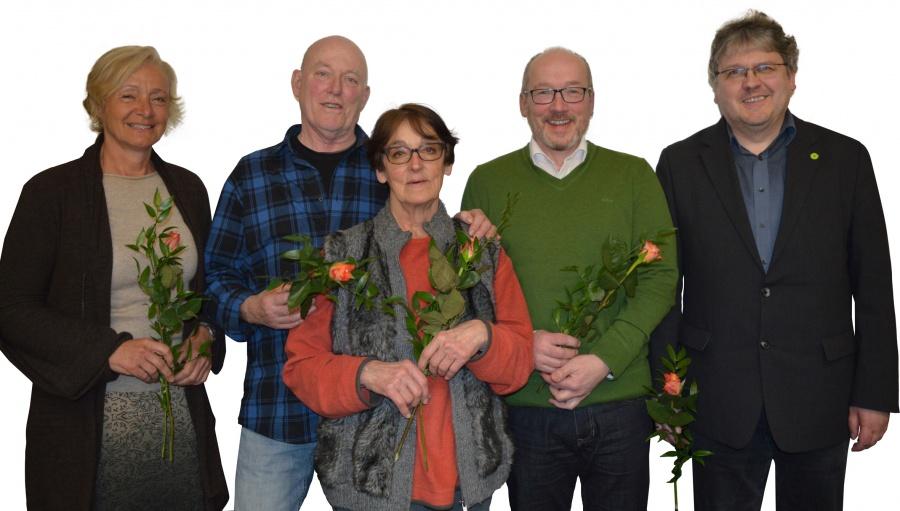 Neuer Vorstand von links - Kerstin Karkowski, Jürgen Niemann, Alja Epp Naliwaiko, Markus Hofmann, Ralf Zwengel