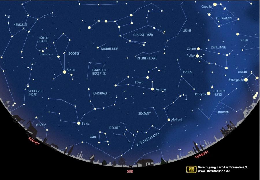 233-Sternenkarte Frühling