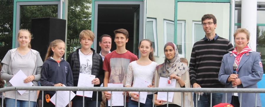 2016-07-15 Schulsanitäter Winfriedschule