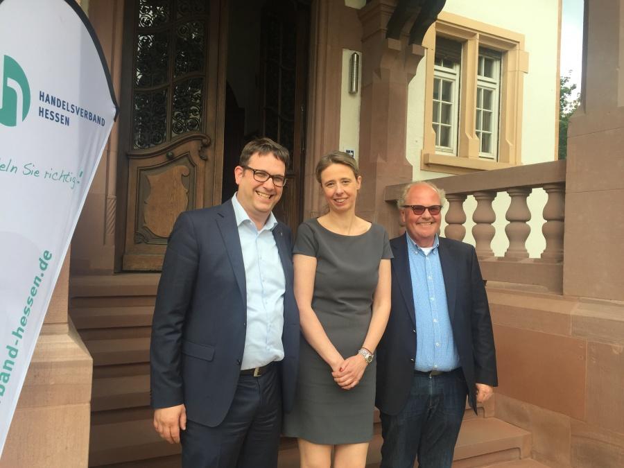 V.l.n.r. Jochen Ruths, Tatjana Steinbrenner und Reinhard Vohl